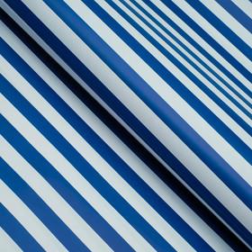 Бумага глянцевая, полоски, голубая, 50 х 70 см Ош
