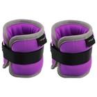 Утяжелитель неопреновый 0,25 кг (вес пары 0,5 кг), цвет фиолетовый
