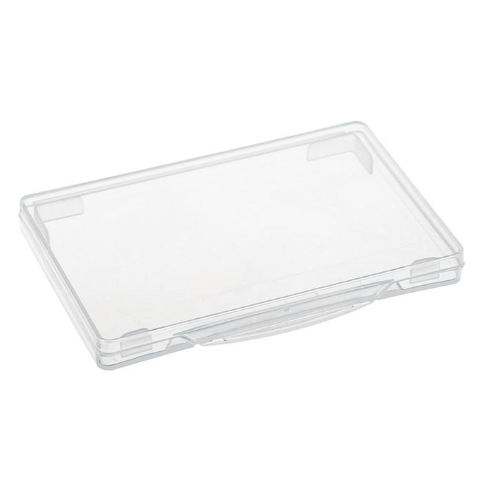 Футляр для визиток, прозрачный, Стамм, 69 х 100 х 10 мм
