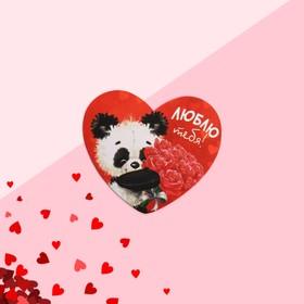 Открытка-валентинка 'Люблю тебя' панда, 7,1 x 6,1 см Ош