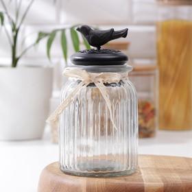 Банка для сыпучих продуктов «Винтажная птица», 0,8 л