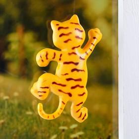 Пластиковый термометр оконный 'Тигр'в пакете Ош