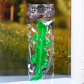 Пластиковый термометр оконный 'Ящерка'в пакете Ош