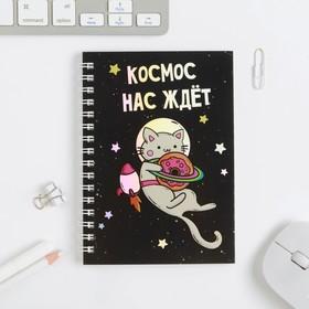 Ежедневник 'Космос нас ждёт', 40 листов, голография Ош