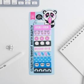 Набор стикеров закладок 'Панда', 9 шт, 30 л Ош