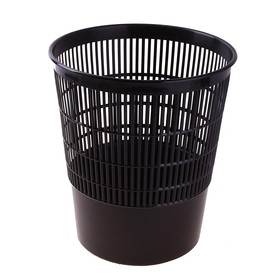 Корзина для бумаг 18 литров, сетчатая, чёрная, высота 330 мм