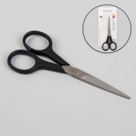 Ножницы парикмахерские, лезвие — 5 см, цвет чёрный Ош