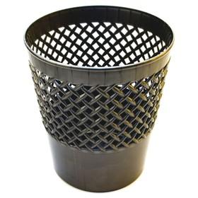 Корзина для бумаг пластик сетчатая 12л Uni 'Офис-Класс', черная Ош