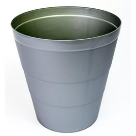Корзина для бумаг пластик цельная 14л Uni серая