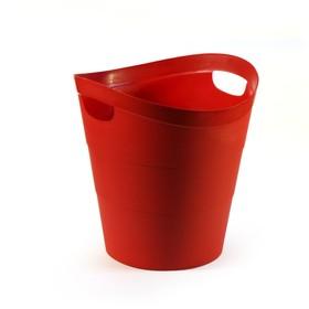 Корзина для бумаг пластик цельная 14л Uni '2002', красная Ош
