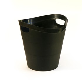 "Корзина для бумаг пластик цельная 14л Uni ""2002"", черная"