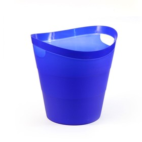 Корзина для бумаг пластик цельная 14л Uni '2002', ультрамарин Ош
