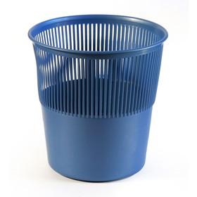 Корзина для бумаг пластик сетчатая 12л Uni синяя Ош
