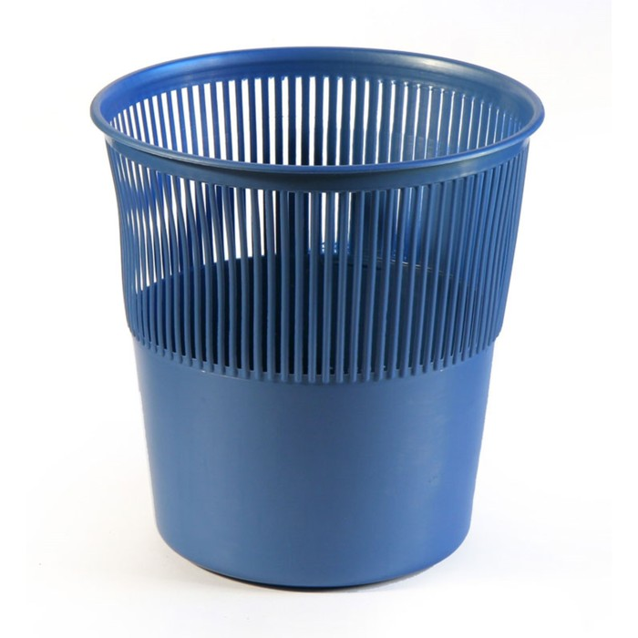 Корзина для бумаг пластик сетчатая 12л Uni синяя
