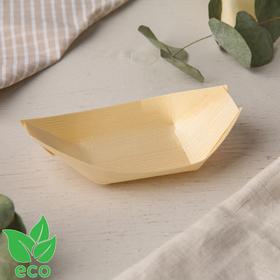 Лодочка для еды, деревянная, 11,5 см, 50 шт/уп Ош