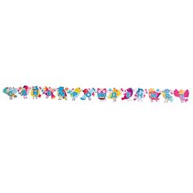 Гирлянда с плакатом 'С Днём Рождения!' глиттер, весёлые птички, А3 Ош