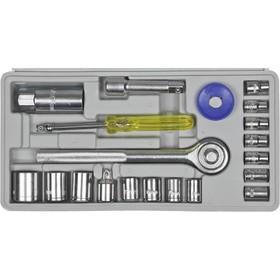 """Набор инструментов DEXX 27602-H20, 20 предметов, 4-17 мм, 1/4"""", 3/8"""""""