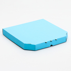 Коробка для пиццы, голубая, 32,5 х 32,5 х 4 см