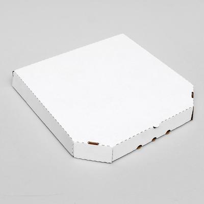 Коробка для пиццы, белая, 32,5 х 32,5 х 4 см