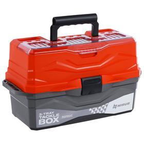 Ящик для снастей Tackle Box NISUS трёхполочный, цвет оранжевый Ош