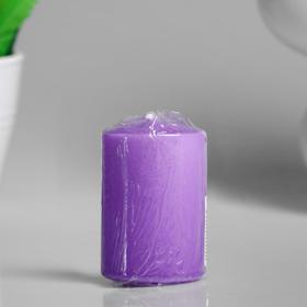 Свеча - цилиндр ароматическая 'Горная лаванда', 4х6 см Ош