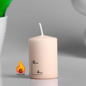 Свеча - цилиндр ароматическая 'Капучино', 4х6 см Ош