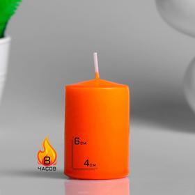 Свеча - цилиндр ароматическая 'Сочное манго', 4х6 см Ош