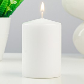 Свеча - цилиндр ароматическая 'Французская ваниль', 4х6 см Ош