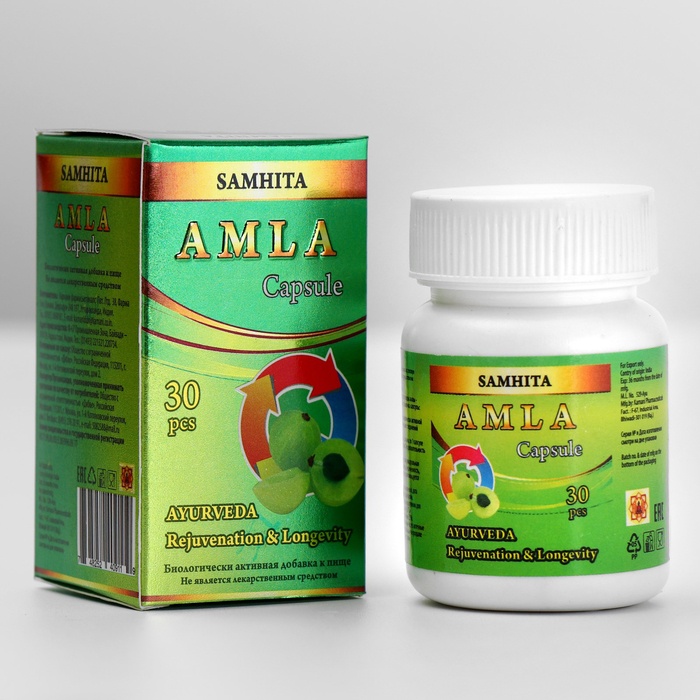 Амла «Самхита», нормализация деятельности всего организма, 30 шт.