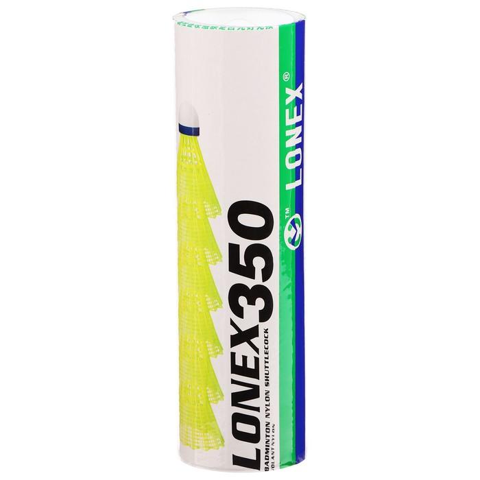 Волан LONEX 350, нейлон, 4 г, набор 6 шт, цвет белый