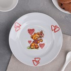 Тарелка мелкая «Мишки», 17 см
