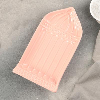 """Блюдо """"Арка"""" 22х12,5х3,5 см, цвет розово-оранжевый - Фото 1"""