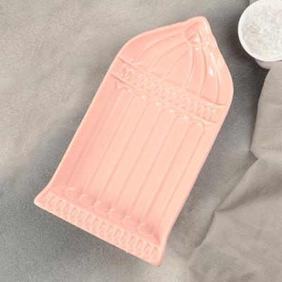 """Блюдо """"Арка"""" 27х15,5х4 см, цвет розово-оранжевый - Фото 1"""