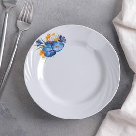 Тарелка мелкая «Крокус», 17,5 см