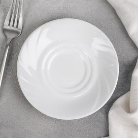 Блюдце «Бельё. Голубка», d=14 см, цвет белый