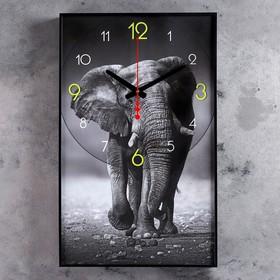 Часы настенные, серия: Животные, 'Джамбо', 57х35х4 см Ош