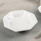 """Салатник """"Бантик"""" 15х15х3,5 см, цвет белый"""