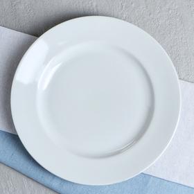 "Тарелка ""Удачная"", цвет белый, фарфор, 24 см"