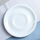 """Блюдце """"Удачное"""", цвет белый, фарфор, 14,5 см"""