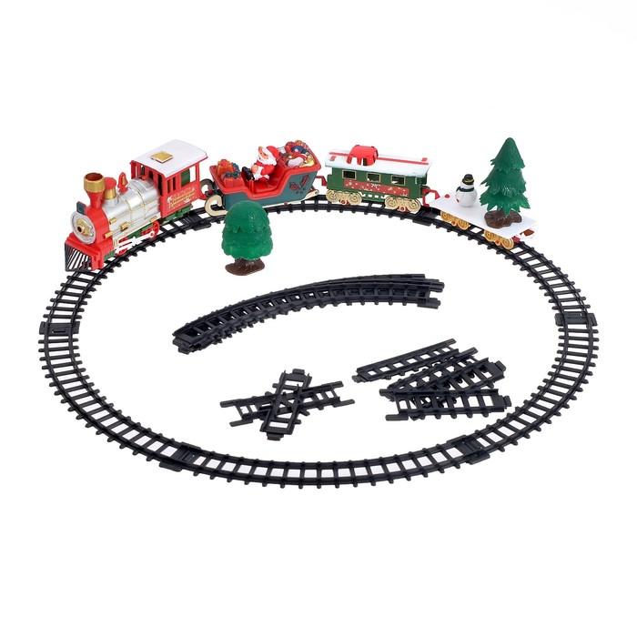 Железная дорога «Новогодний поезд», свет и музыка, в пакете