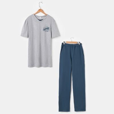 Костюм мужской (футболка, брюки) «Эрик», цвет серый, размер 48 - Фото 1