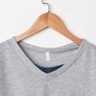 Костюм мужской (футболка, брюки) «Эрик», цвет серый, размер 48 - Фото 2