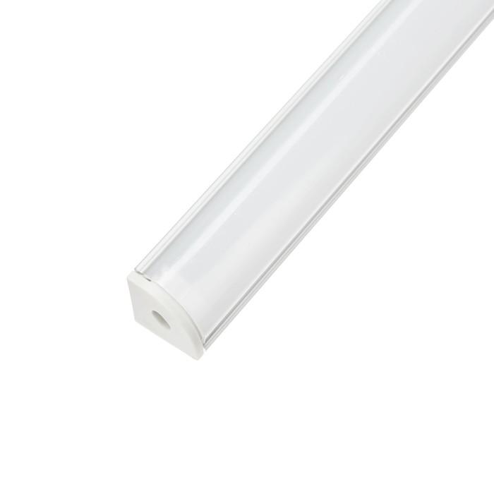 Алюминиевый профиль TDM 1616, угловой, 2 м, матовый рассеиватель, 2 загл., 4 креп