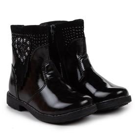Сапоги дошкольные, цвет черный, размер 28 Ош