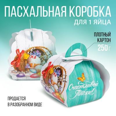 Пасхальная коробочка для яйца «Кулич»