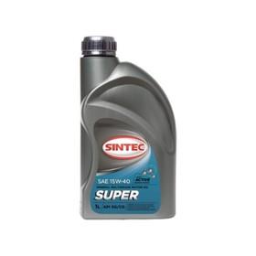 """Масло моторное Sintoil/Sintec 15W-40, """"супер"""", SG/CD, минеральное, 1 л"""