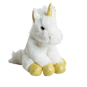 Мягкая игрушка «Единорог» 35 см, цвет золото