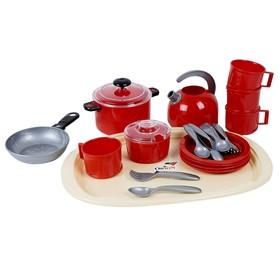 Набор посуды «Ириска 9», в сетке, МИКС
