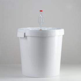 Бражный комплект 32 л (бак+гидрозатвор+термометр клеящийся)