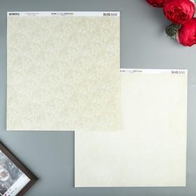 Бумага для скрапбукинга BoBunny - Коллекция «Double Dot» - лист «French Vanilla Lace»
